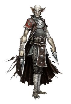 Male Bugbear Rogue - Scabvistin - Ironfang Invasion - Pathfinder PFRPG DND D&D d20 fantasy