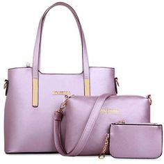 125c52650676 Fashionable Letter Print and Rivets Design Women s Shoulder Bag