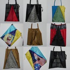 shopping bags from dead umbrellas