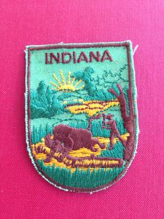 Indiana Travel Patch by Voyager by HeydayRetroMart on Etsy, $4.00