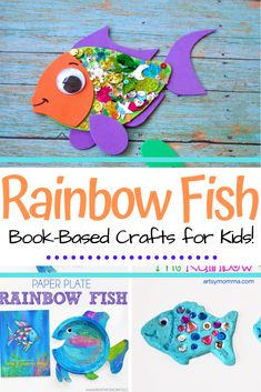 These Rainbow Fish crafts for kids work on fine motor skills, creativity, hand-eye coordination, and much more! Perfect for preschool through grade Rainbow Fish Activities, Rainbow Fish Crafts, Ocean Crafts, Rainbow Fish Book, Rainbow Paper, Preschool Activities, Activities For Kids, Preschool Arts And Crafts, Preschool Christmas