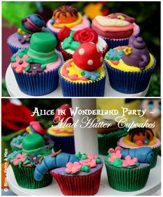 {Tea Party} Mad Hatter Cupcakes