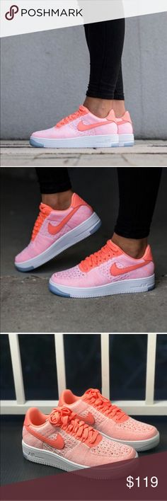 55a5da4ad008d8 NWT Nike Air Force 1 Flyknit Low AtomIk Peach 🍑 W Brand new with box