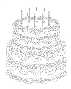 Free Coloring Pages Of T Cake Blank Birthday Page Presch