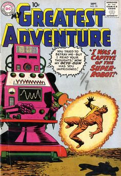 My Greatest Adventure #35, september 1959, cover by Bob Brown.