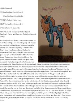 This is Storybooks Bio please read and if you have any questions or comments please feel free to ask.