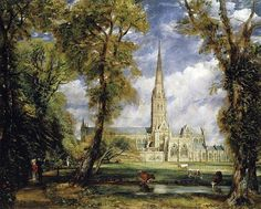 John Constable  Salisbury Cathedral from the Bishop's Garden, 1825  Oil on canvas