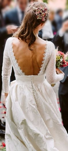 Nuestras novias | Paredero Quirós - Part 2 Bridal Dresses, Wedding Gowns, Bridesmaid Dresses, Perfect Day, Bridal Show, Bridal Looks, Wedding Styles, Marie, Wedding Hairstyles