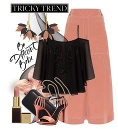 """""""Tricky Trend: Chic Culottes"""" by andrejae ❤ liked on Polyvore featuring Temperley London, Lipsy, Clare V., Marni, Calvin Klein, TrickyTrend and culottes"""