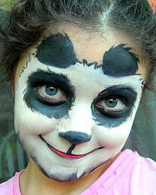 panda bear face painting