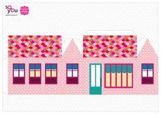 #Paper #Toy #House par Solange ABAZIOU pour Le Quai Angers - Paper House – Maison de papier – Modèle 2 - http://soyou.fr/