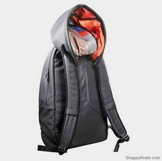 Cover up your bad hair day with a built-in backpack hoodie #product_design