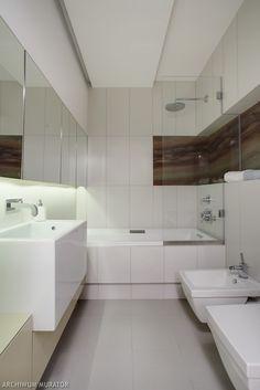 Kleines Bad Einrichten Eckbadewanne Wandnische Einbauleuchten Dunkelgraue  Bodenfliesen | Dachgeschoss | Pinterest