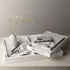 Buy Home Accessories > Decorative Accessories > Nesting Laquer Trays from The White Company
