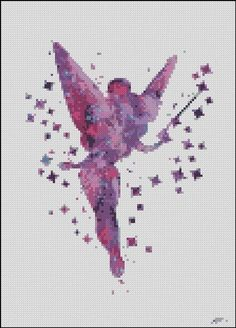 Disney Fairy Tinker Bell watercolor Cross Stitch Pattern | Etsy
