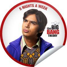 #TBBT - #RajKoothrappali Episode Online, Big Bang Theory, Warner Bros, Bigbang, Stickers, Objects, Stars, Tv, Friends