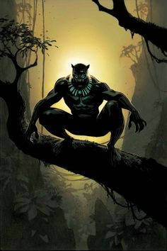 Black Panther (Cover art by Andrew Robinson) Black Panther Marvel, Black Panther King, Ms Marvel, Marvel Comics Art, Marvel Heroes, Captain Marvel, Black Panthers, Wakanda Marvel, Wallpaper Bonitos