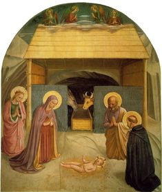 Fra Angelico, Nativity, 1439-1443, Fresco, 69 x 58 in, Cell 5, Convent of San Marco, Florence