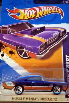 Hot Wheels - 2012 - '68 Dodge Dart - Muscle Mania series On Card #HotWheels #Ford