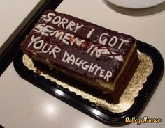 bahahaha a nice apology cake...thanks collegehumor.com