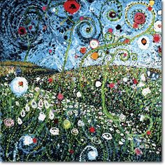 'Field of Bright Spots' -- Austin, TX artist Starla Michelle Halfmann....I must have all of her pieces!!