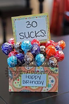 LOL!  What a great idea for a 30th (40th, 50th, or 60th) birthday party!  sistersstuff.blog... #birthday #gag #craft
