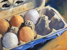"Daily+Paintworks+-+""Farmers+Eggs""+-+Original+Fine+Art+for+Sale+-+©+Andrea+Jeris"