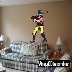 Baseball Wall Decal - Vinyl Sticker - Car Sticker - Die Cut Sticker - CDScolor162