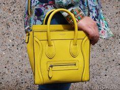 Fashionphile - CELINE Smooth Leather Nano Luggage Bag Ecru Beige ...