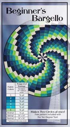 Ten degree wedge 50 inch circle quilt Christmas Tree skirt Quilts Without Corners Quilts Without Corners Encore wedge tool acrylic quilting tool Quilting For Beginners, Quilting Tips, Quilting Tutorials, Quilting Projects, Quilting Designs, Bargello Quilt Patterns, Bargello Quilts, Quilt Patterns Free, 3d Quilts