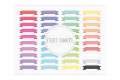 Folded Banners by Maishop Digital Art on Creative Market