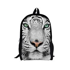 9c043e610eee HUGSIDEA White Tiger Child Schoolbag Boy School Backpack ... Kids Backpacks