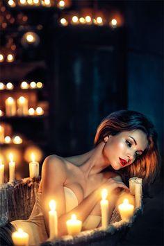 Shooting inspiration with candles Photo by simona smrckova