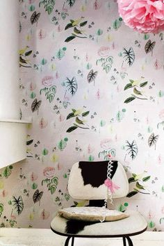 Onszelf Kids Wallpaper Panels- Pink Floral OZ3133 by Onszelf | JUST KIDS WALLPAPER™