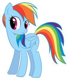 Rainbow Dash hair color