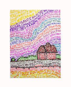 LANDSCAPE (typography) by heidabjorg, via Flickr Middle School Art, High School, Virtual Art, School Art Projects, Art Lessons Elementary, Spring Art, Art Party, Typography Art, Art Classroom