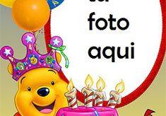 Pastel De Feliz Cumpleaños Con Osito De Peluche Marco Para Foto Happy Birthday Frame, Birthday Frames, Happy Birthday Cakes, Tweety, Candle Jars, Projects To Try, Birthdays, Funny, Iphone