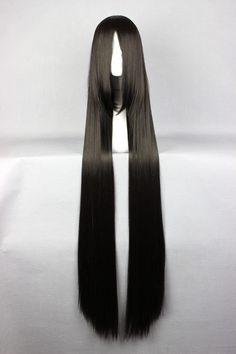 120cm Long Final Fantasy-Vincent Valentine Black Cosplay Costume Anime Wig Alternative Measures
