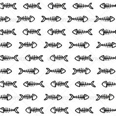 fishbones pattern  #GraphicRiver         Just what the title says… Seamless pattern…   ENJOY !!! and… Rate if you like what you see… Thanx!!!     Created: 30December11 GraphicsFilesIncluded: VectorEPS Layered: No MinimumAdobeCSVersion: CS Tags: background #blackandwhite #bones #fish #fishbone #grunge #pattern #seamless