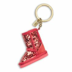 Amazon.com: UGG Glitter Boot Keycharm (Red Light): Office Products