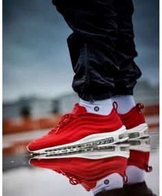 09f71c116860 Nike Air Max 97 Cvs Red Red Trainers