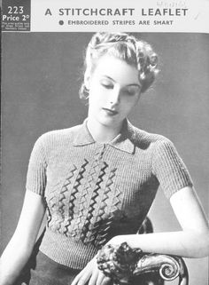 Free vintage knitting pattern from 1930s