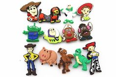 13pcs New Toy Story New Shoe Charms for Croc Shoes & Bands Bracelet Wristband