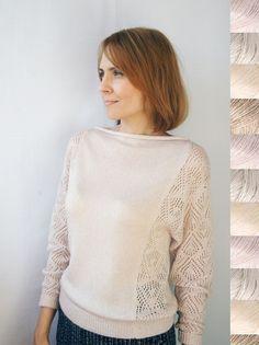 Пуловер Жемчужная пыль - кремовый,однотонный,на заказ,на каждый день,нарядная кофточка