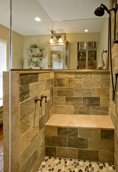 Refined Rustic Master Bath Remodel: Ambler, PA - traditional - bathroom - philadelphia - HomeTech Renovations, Inc.
