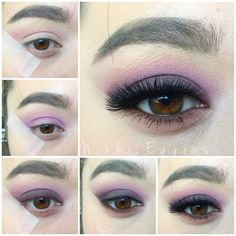 Purple smokey eye  using social eyes lashes in Ravishing