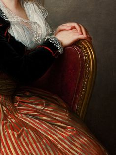 theladyintweed:  Louise Élisabeth Vigée Le Brun (detail) Female Painters, Classic Image, Hand Art, Gustav Klimt, Classical Art, Fashion Plates, Various Artists, Fabric Painting, Art Techniques