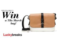 Enter here every day to win a Tila March bag––worth $1,050!A gorgeous neutral palette, the perfect messenger shape, tons of interior pockets—this design (from French Elle editor Tamara Taichman's accessory line) is basically the cross-body bag of our dreams.Sweepstakes are valid through September 2, 2013.