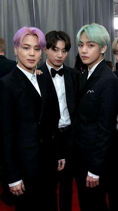 Maknae line at the Grammys Jimin Jungkook, Bts Selca, Bts Bangtan Boy, Bts Taehyung, Bts Boys, Foto Bts, Taekook, Die Beatles, Bts Group Photos