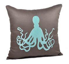 Octopus Pillow Cover Decorative Pillow Throw Pillow by KainKain